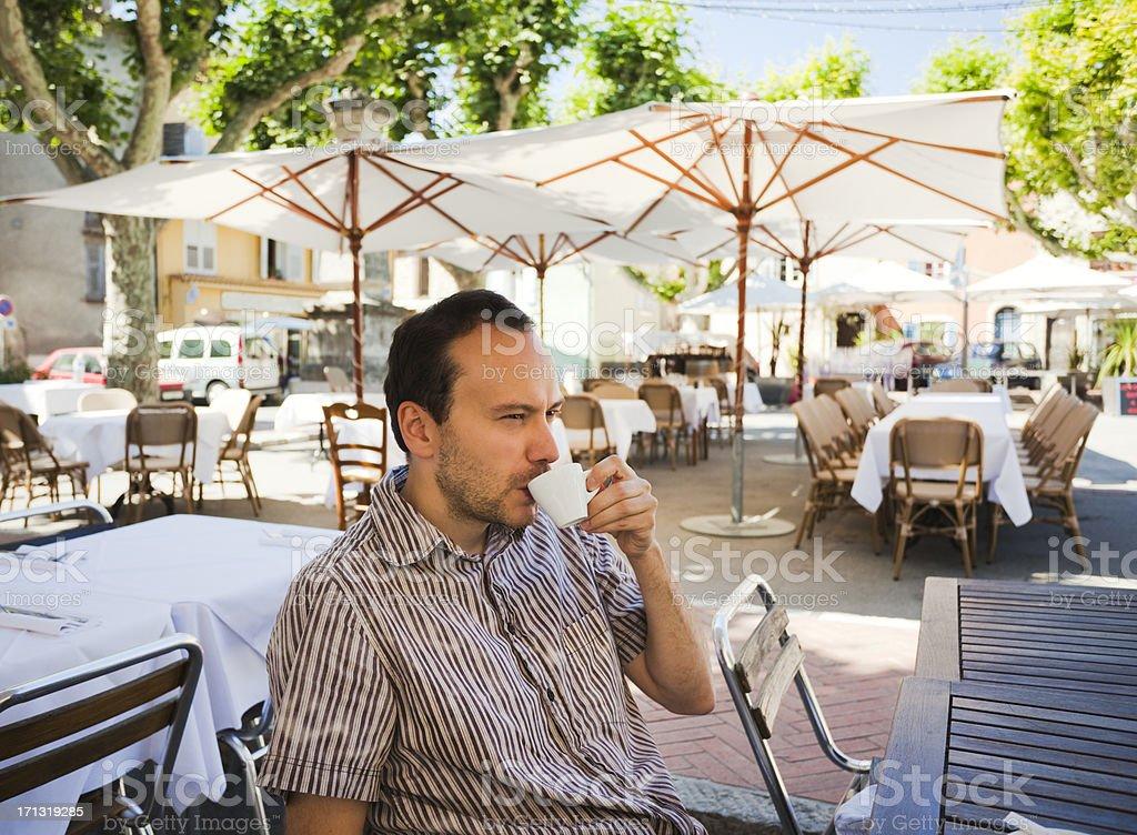 Man drinking espresso royalty-free stock photo