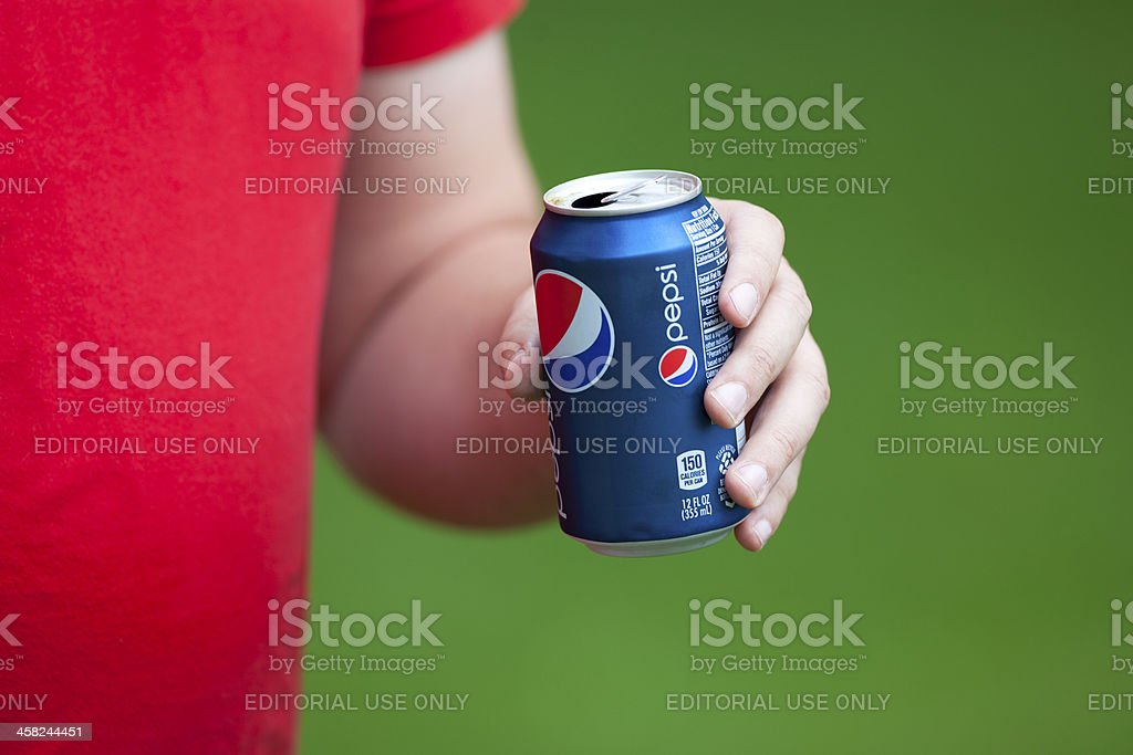 Man Drinking Pepsi Cola stock photo