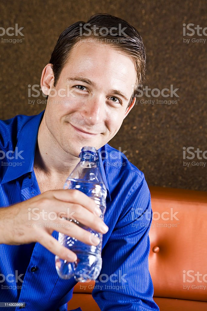 Man Drinking Water royalty-free stock photo