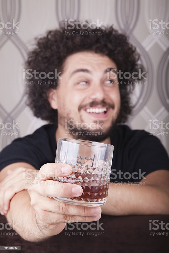 Man Drinking Whiskey royalty-free stock photo