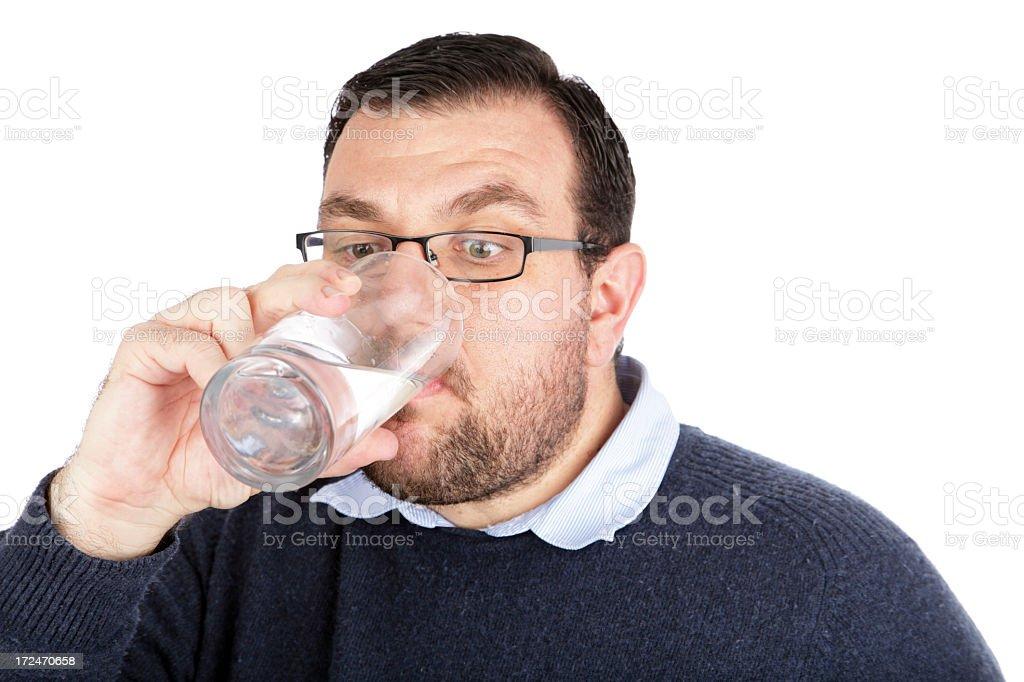 Man Drinks Water royalty-free stock photo