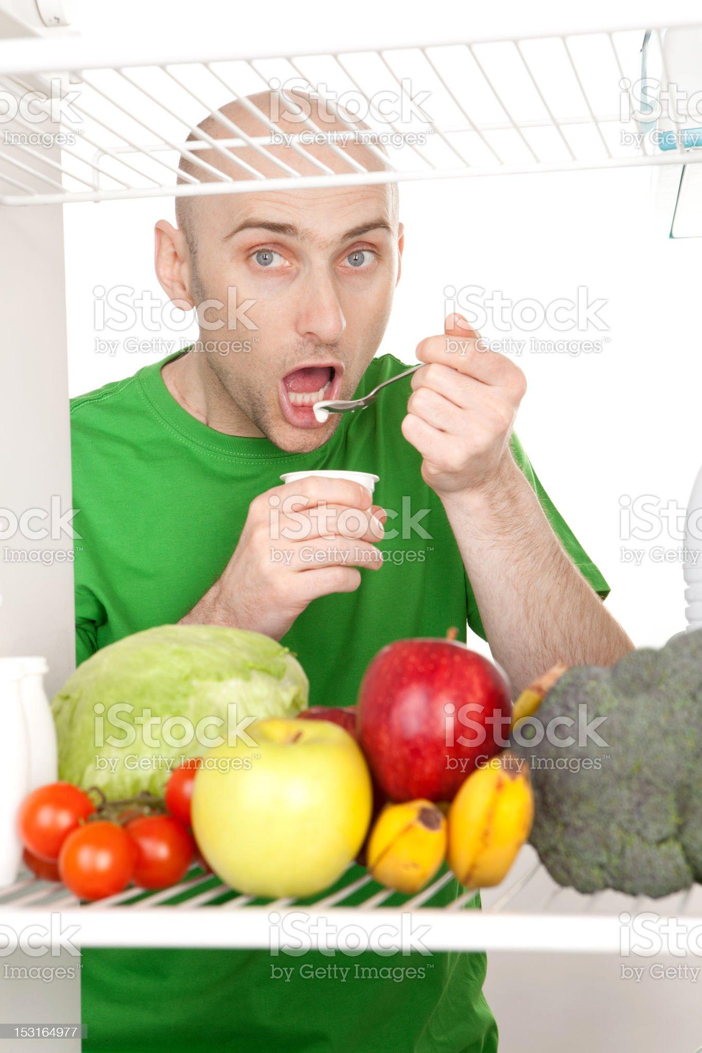 Man eating royalty-free stock photo