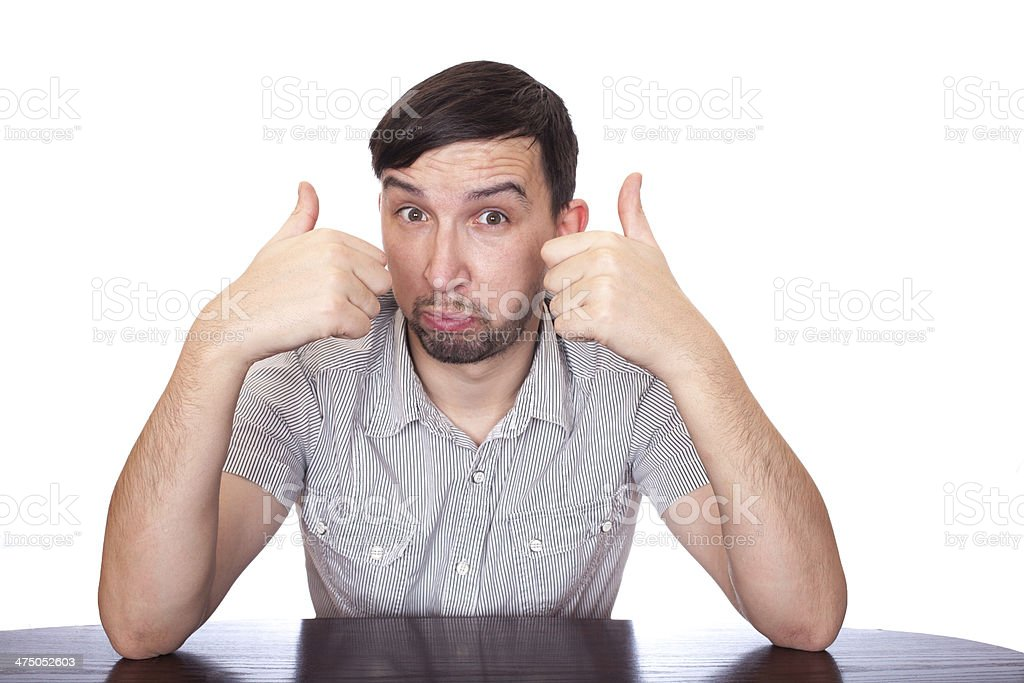 Man emotions royalty-free stock photo