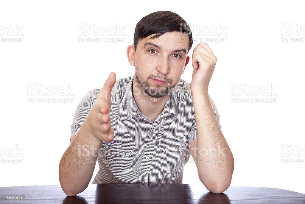 Man emotions royalty-free stock photo