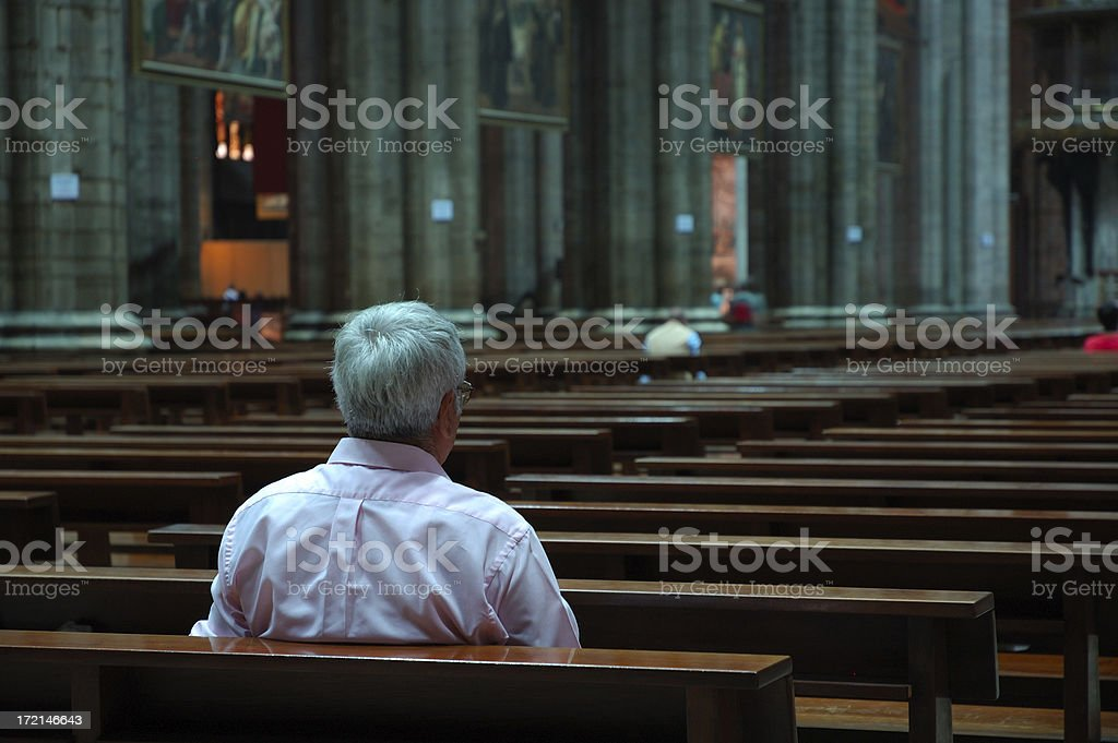 Man enjoying solitude royalty-free stock photo