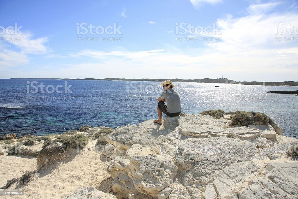 Man enjoying the beautiful view royalty-free stock photo