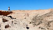 Man enjoying the view of Fuerteventura landscape