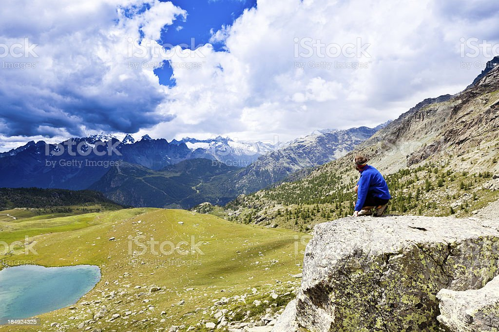Man enjoying the view royalty-free stock photo