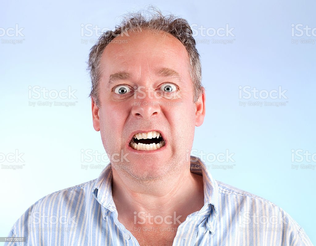 Man Enraged About Something stock photo