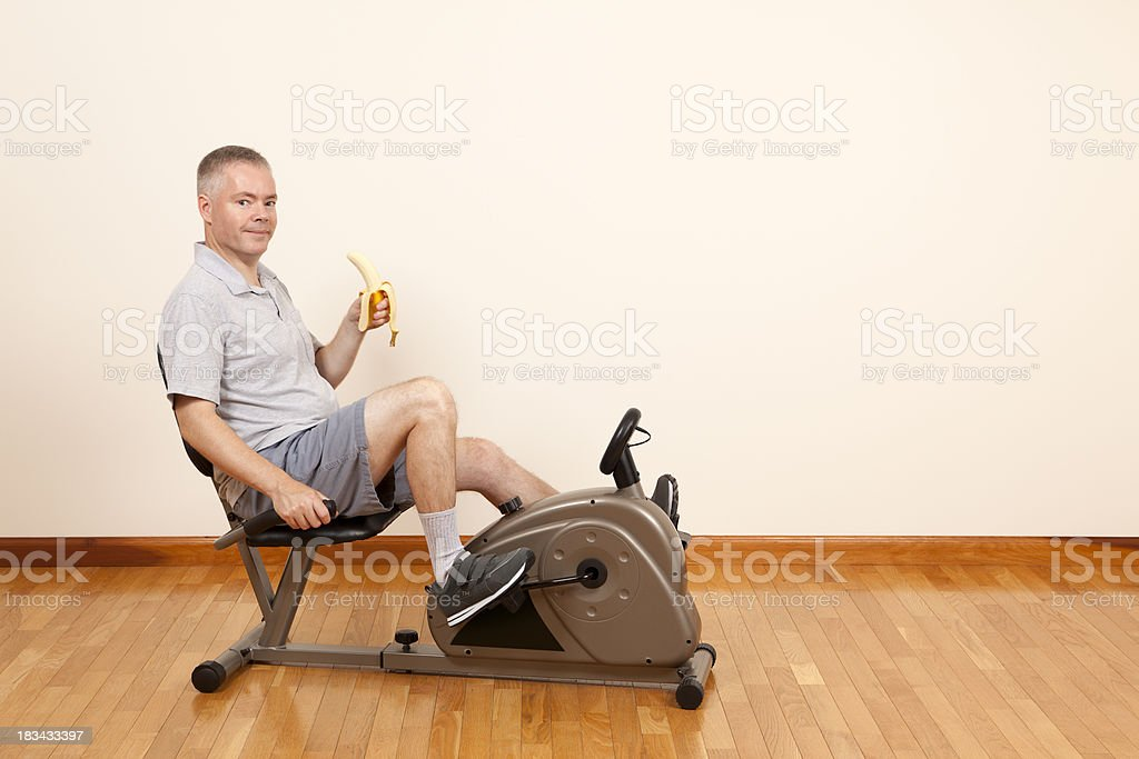 Man Exercising a Healthy Choice royalty-free stock photo