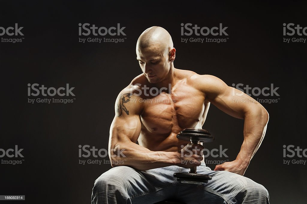 Man Exercising royalty-free stock photo