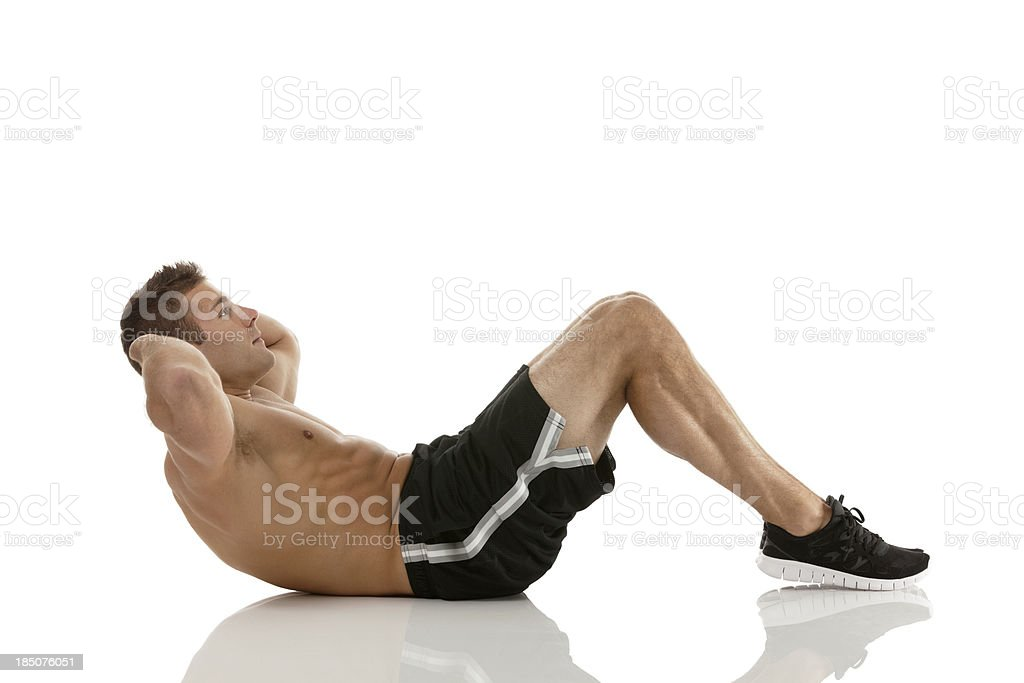 Man exercising royalty-free stock photo