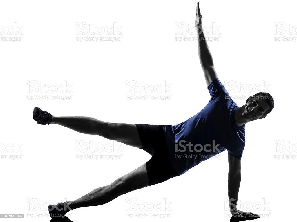 man exercising workout royalty-free stock photo