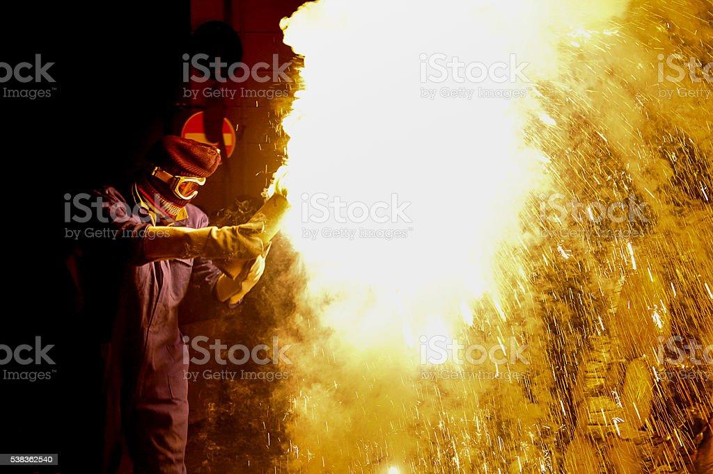 man explosive stock photo