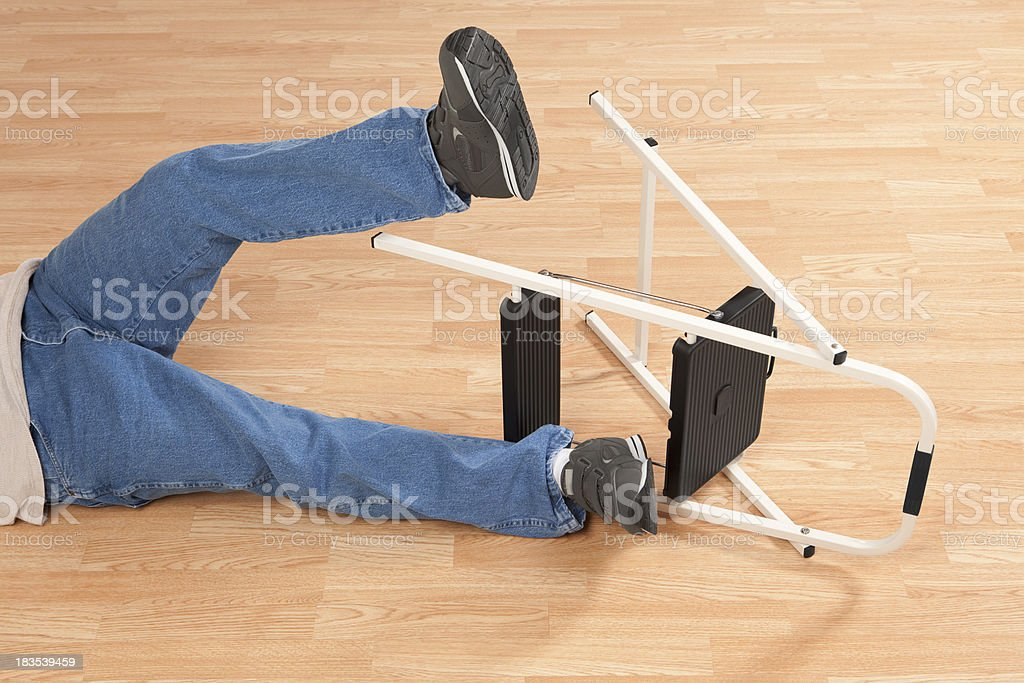 Man Falling From Ladder royalty-free stock photo