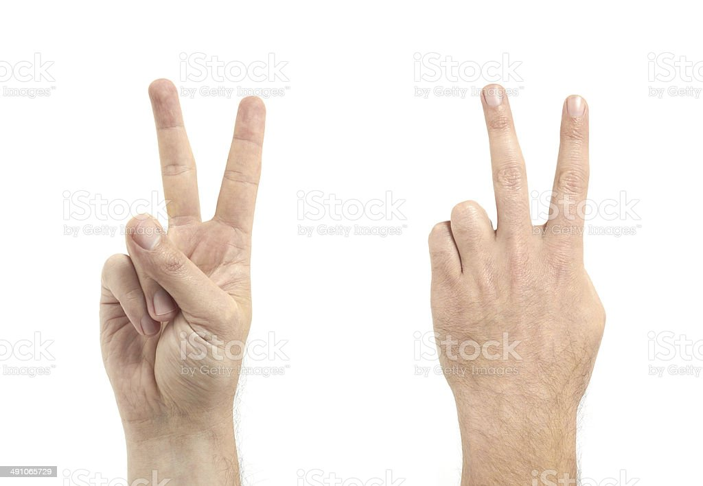 Man Finger Number two stock photo