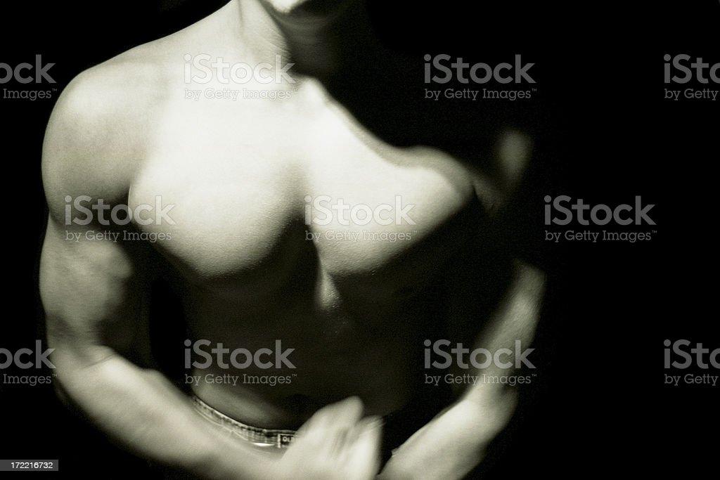 Man Flexing royalty-free stock photo