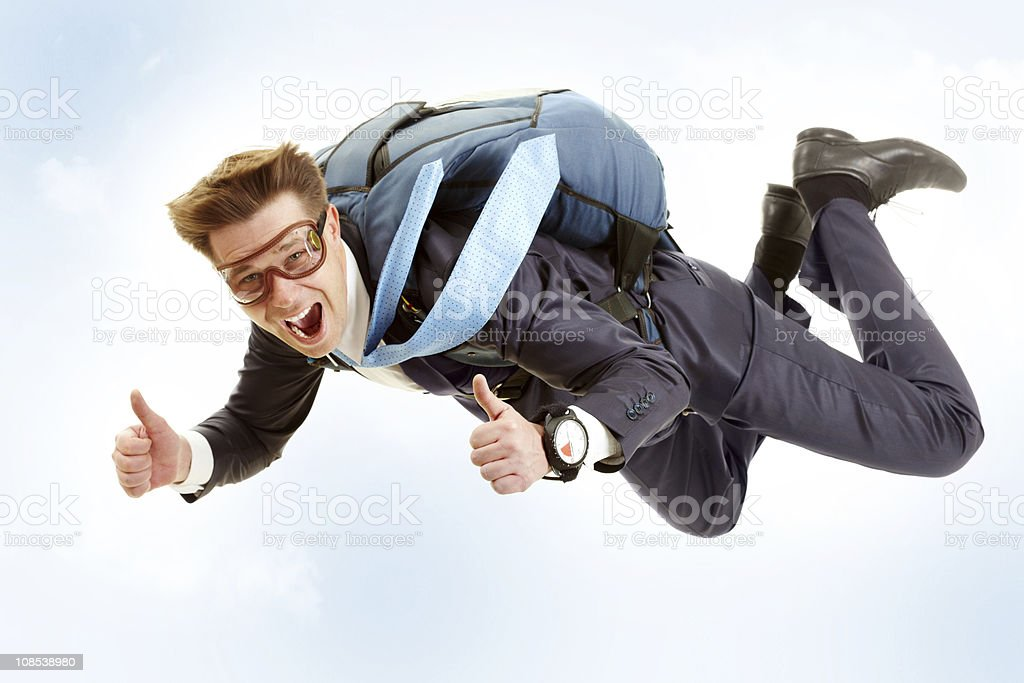 Man flying stock photo