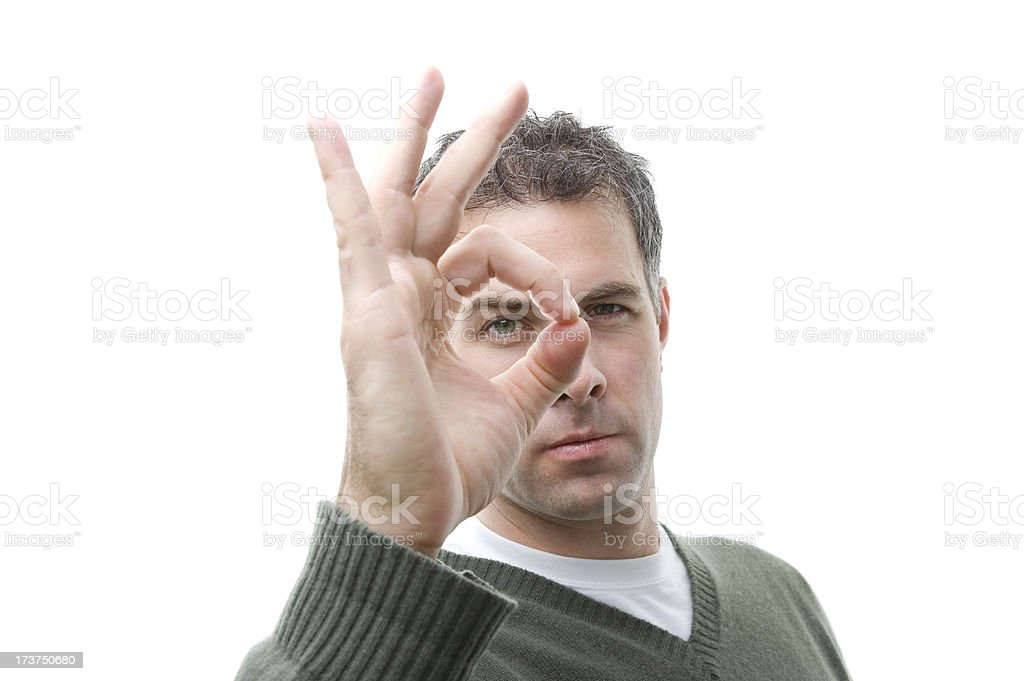 Man focusing royalty-free stock photo
