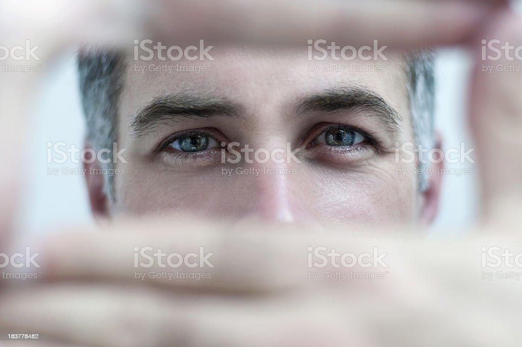 Man Focusing stock photo