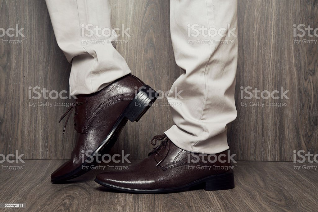 Man Formal Dress Shoes stock photo