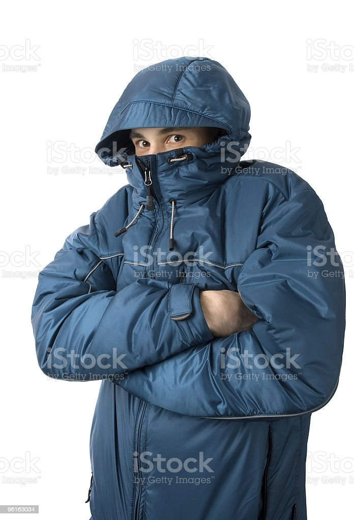 man freezing royalty-free stock photo