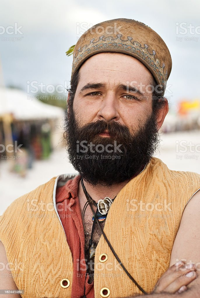 Man from the Balkans stock photo