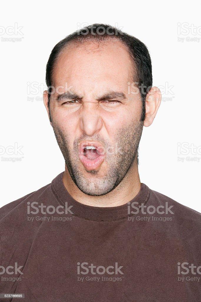 Man frowning stock photo