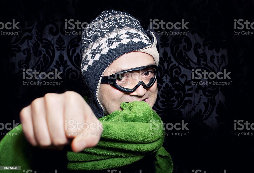 man full of energy royalty-free stock photo