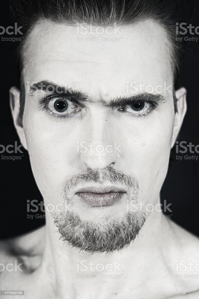 man funny face closeup royalty-free stock photo