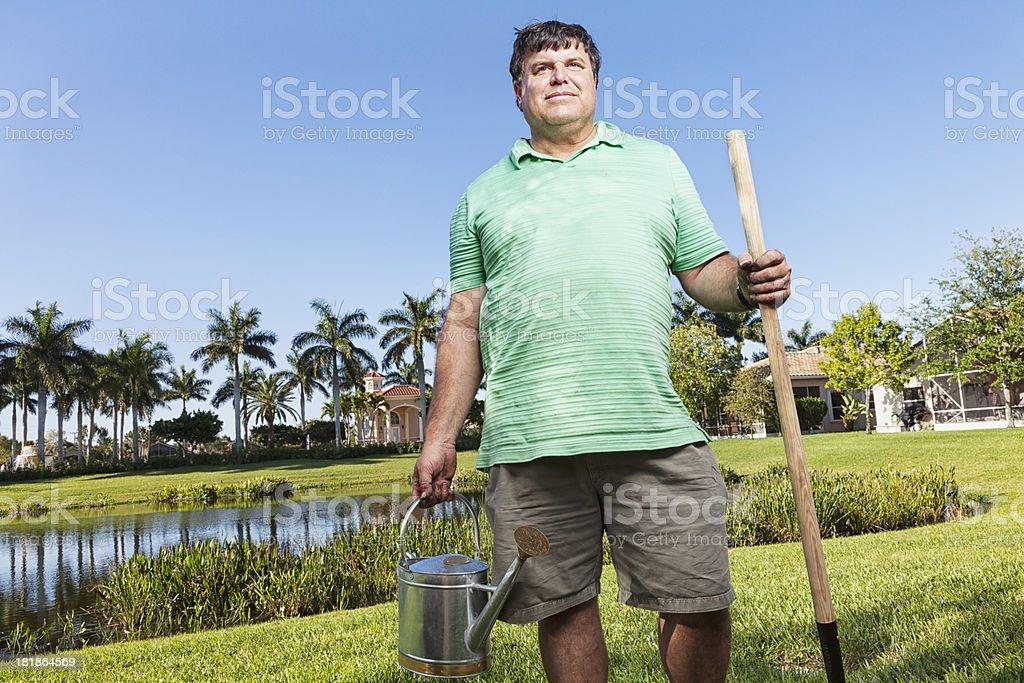 man gardening royalty-free stock photo