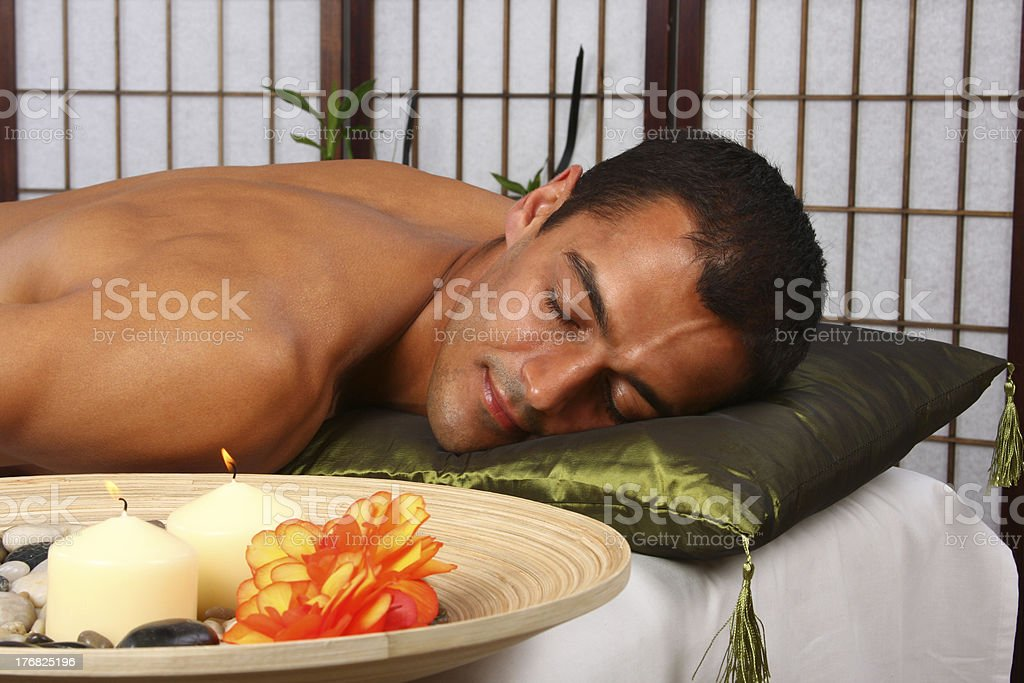 Man getting massage. royalty-free stock photo