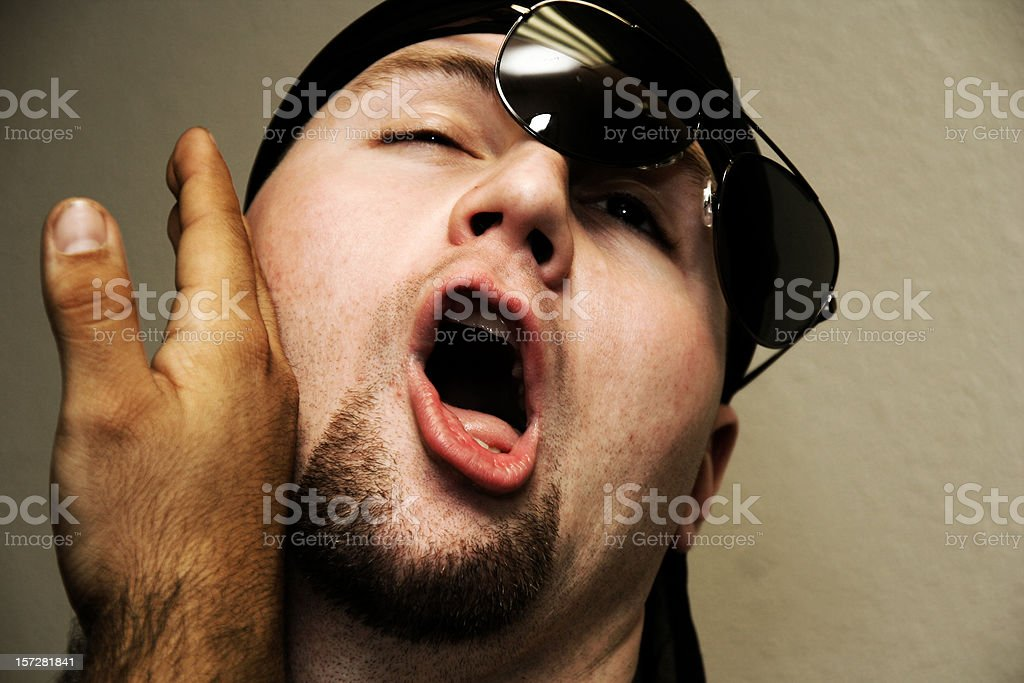 Man Getting Slapped stock photo