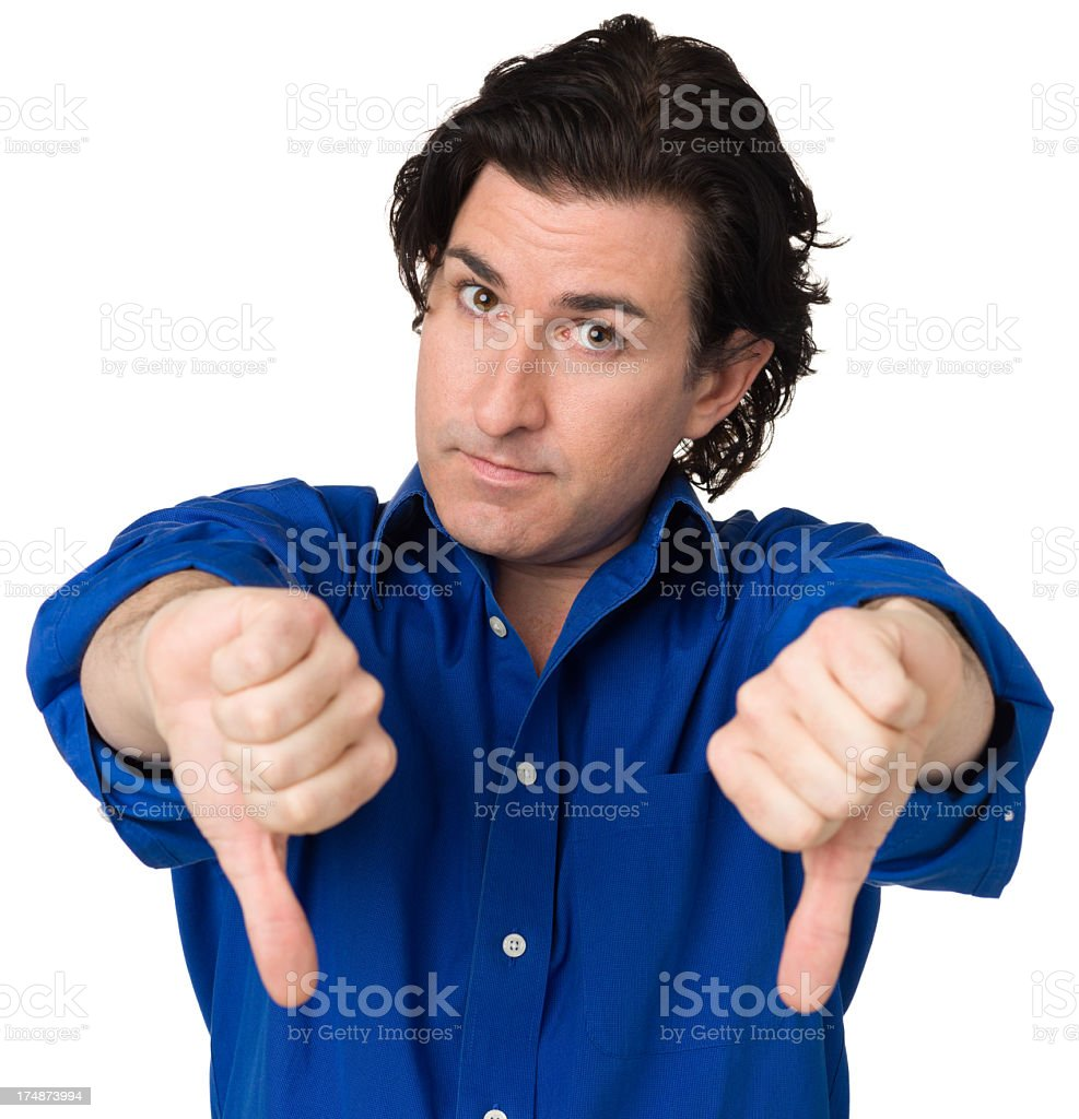 Man Gives Two Thumbs Down royalty-free stock photo
