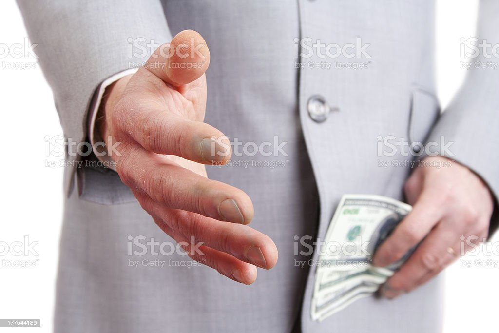 Man giving a hand royalty-free stock photo