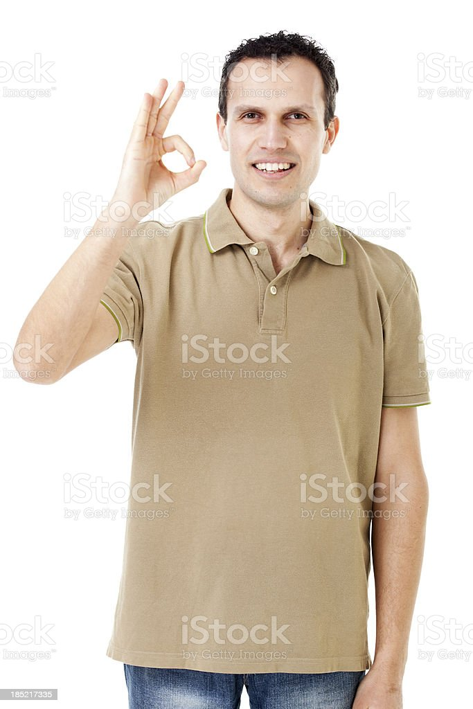 man giving ok sign royalty-free stock photo