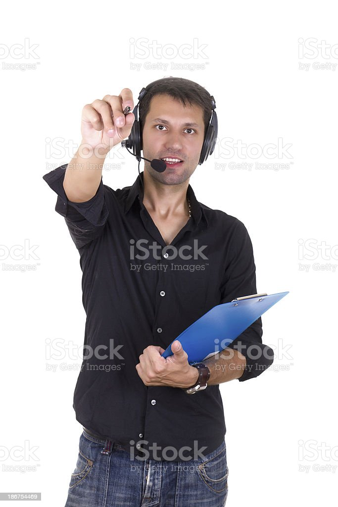 man giving orders royalty-free stock photo