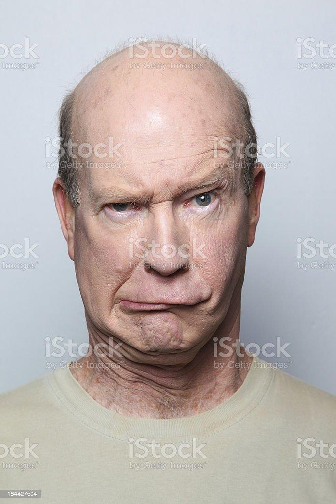 man grimace royalty-free stock photo