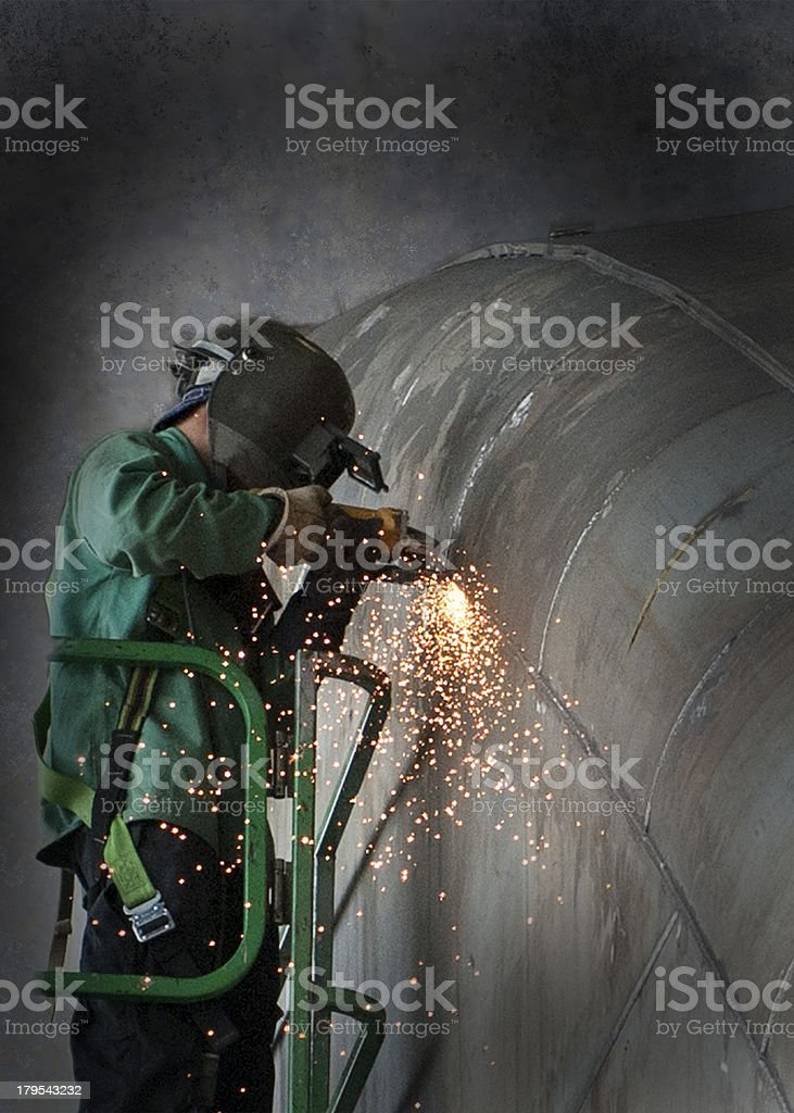 Man Grinding royalty-free stock photo