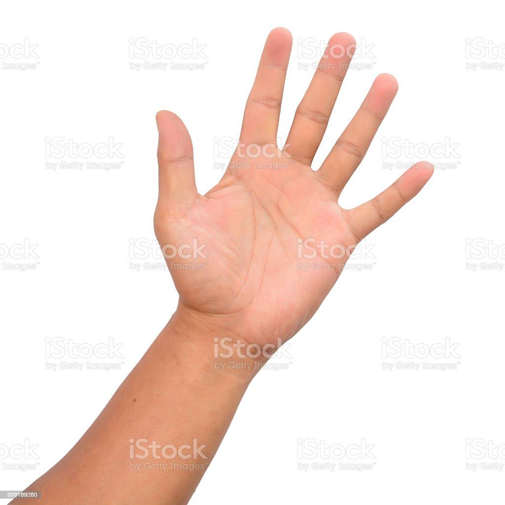 Man hand isolated stock photo
