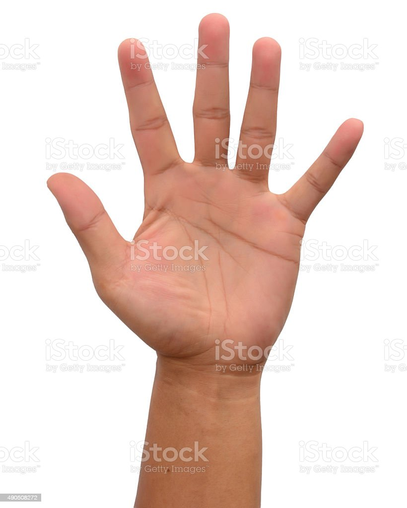 Man hand stock photo