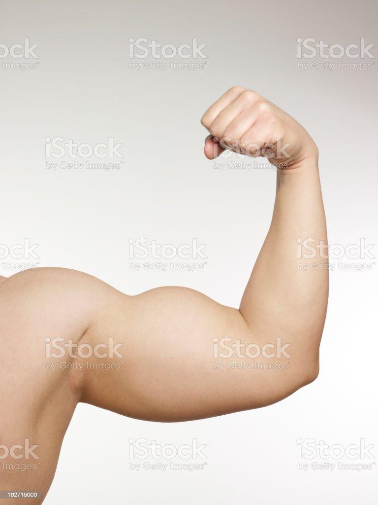 Man hand power stock photo