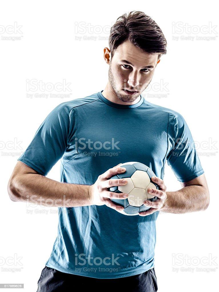 man handball player isolated stock photo
