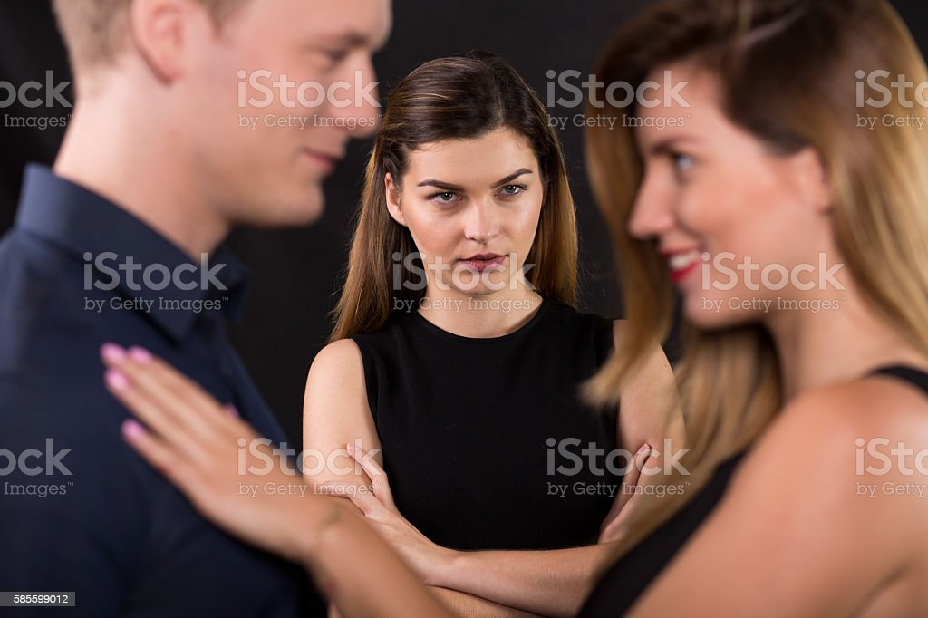 Man has a mistress stock photo