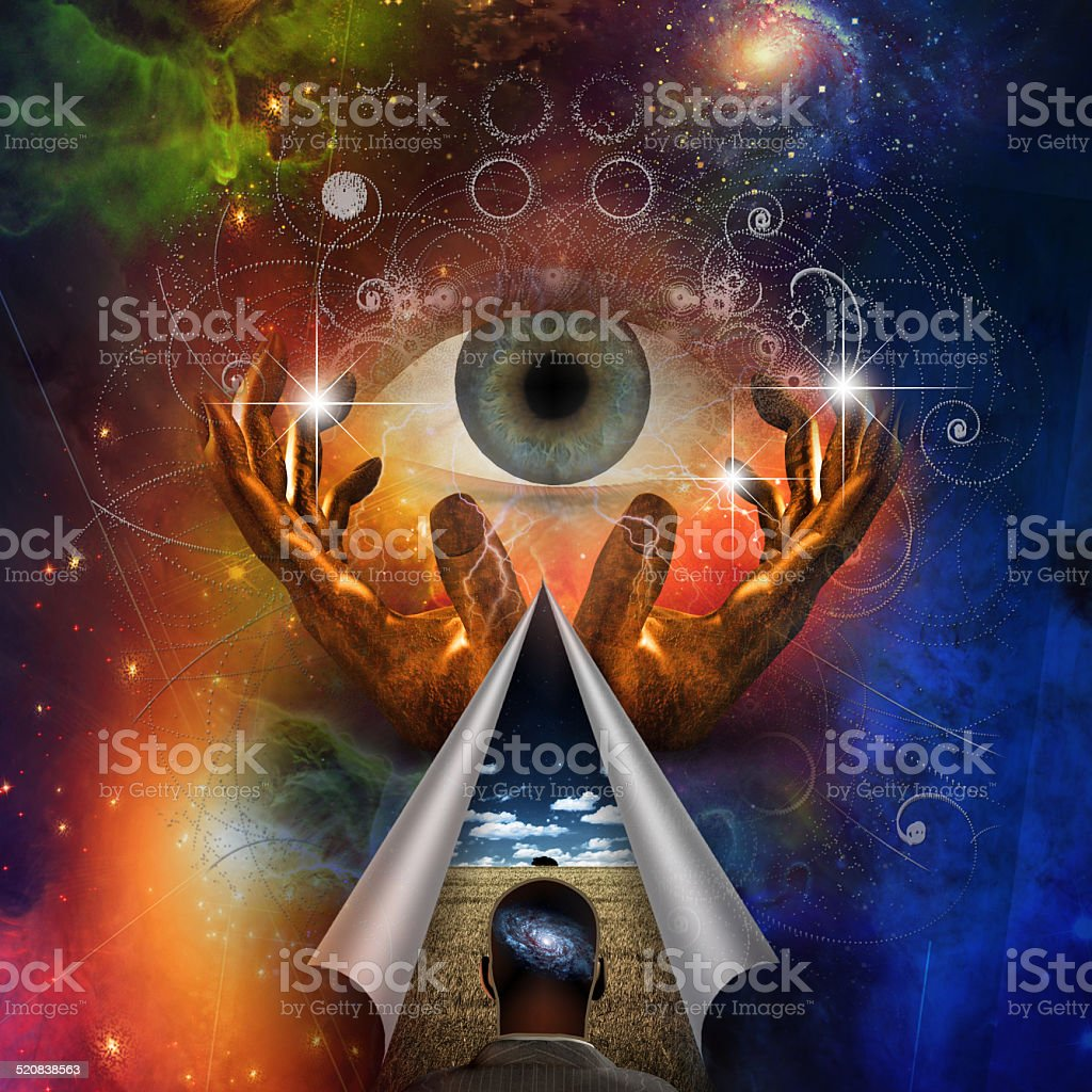 Man has vision stock photo