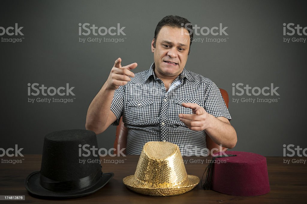 Man have to make a choice stock photo