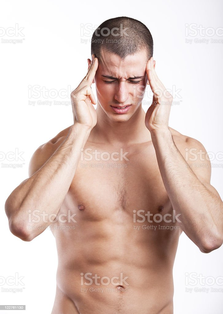 Man having a headache royalty-free stock photo