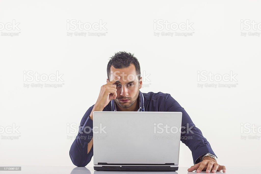 Man having a headache. royalty-free stock photo