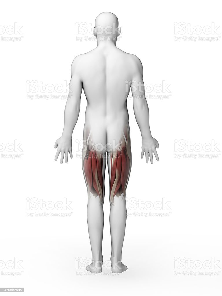 man having acute pain in the back royalty-free stock photo
