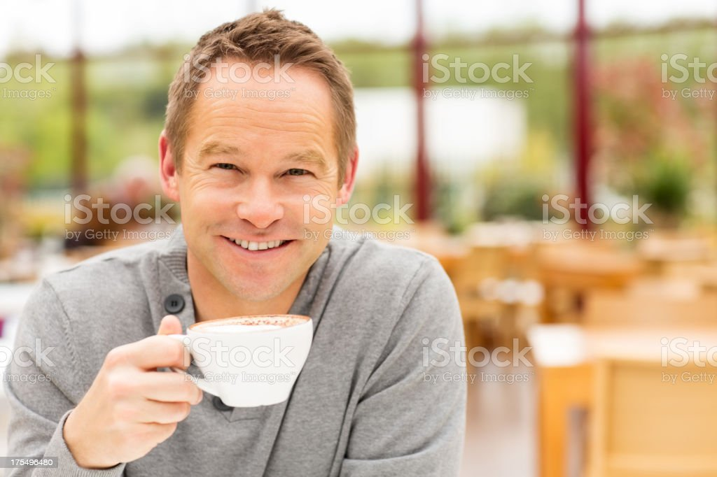 Man Having Cup Of Coffee royalty-free stock photo